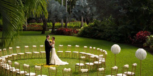 The Fairmont Royal Pavillion wedding lawn