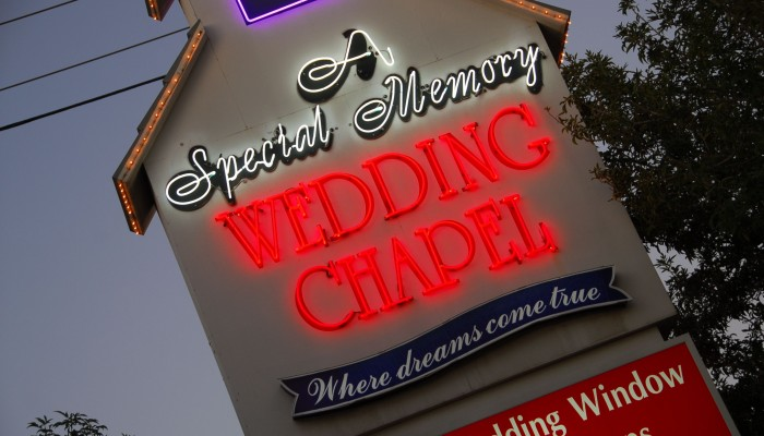 Special Memory Wedding Chapel Sign